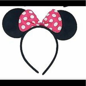 Minnie mouse pink bow headband ears